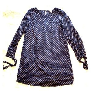 H&M Long Sleeve Dress in Navy Blue - Size 6